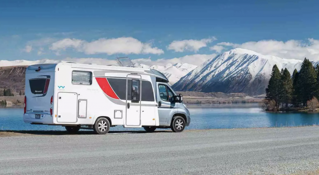Motorhome in the Snow New Zealand.