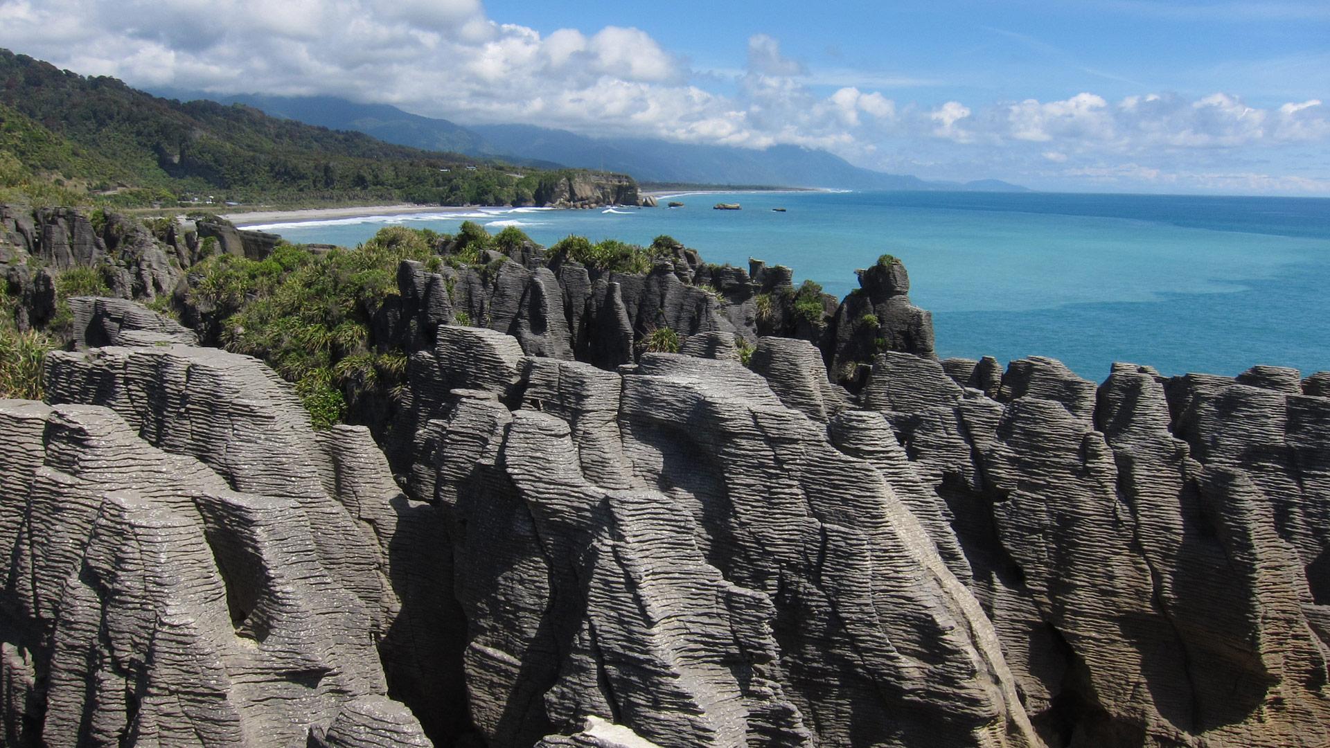 Pancake Rocks, New Zealand.