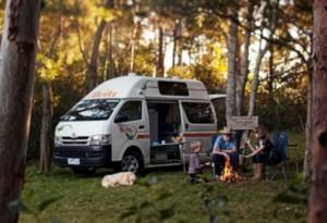 relax in a camper.