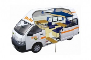 3-4 Berth Voyager Campervan from Britz