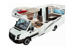 Luxury motorhome rental.