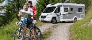 Bike rental with motorhome rental.
