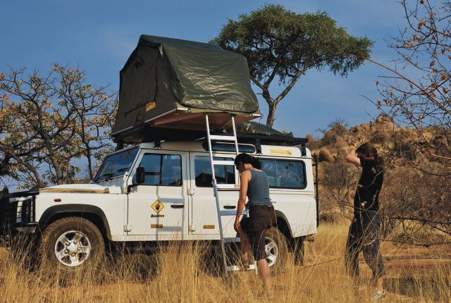 Namibia 4x4 camper rental.