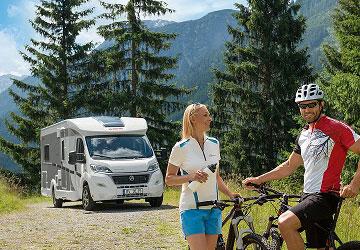 Spain campervan with bicycles.
