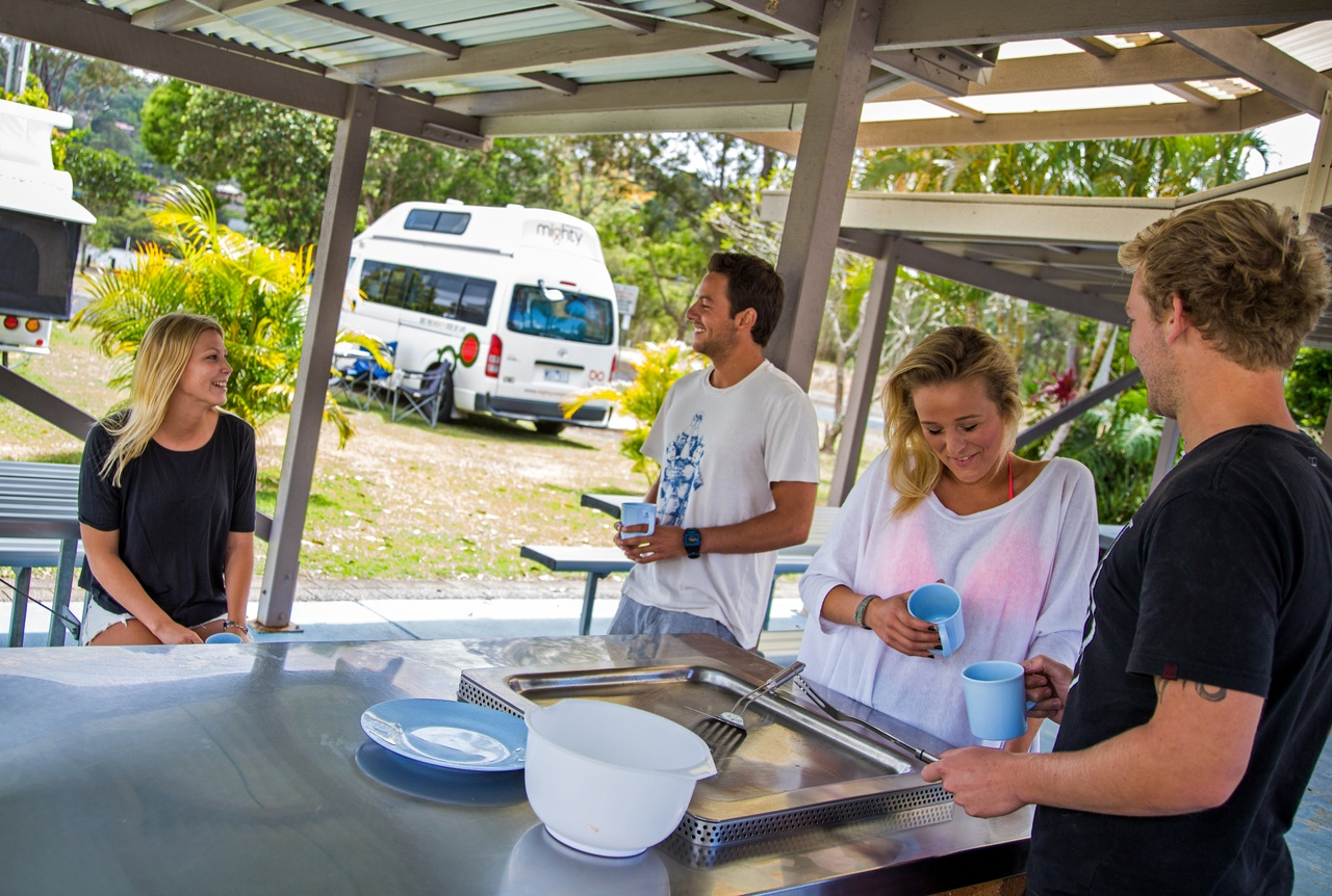 Australia Campervan Rental in the Mighty Double Down Camper for four people